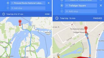 Google Maps Updates with intermediate waypoints
